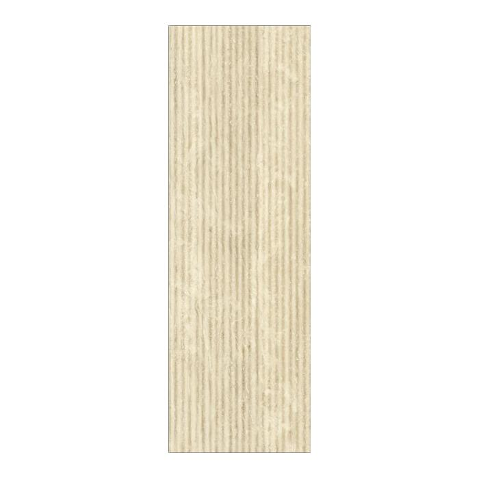 Текстура плитки Травертино Навона Вставка Вэйв 25x75