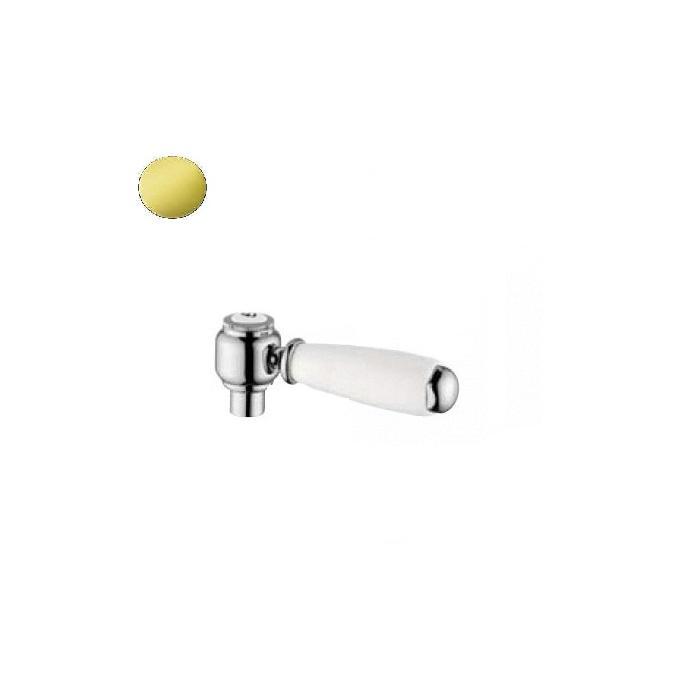 Фото сантехники RICAMBI Ручка UNI со штоком, белая/золото - 2