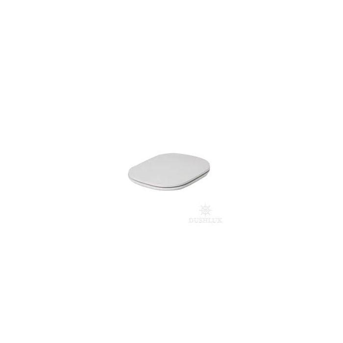 Фото сантехники GLAZE Сиденье для унитаза, цвет белый, шарниры хром