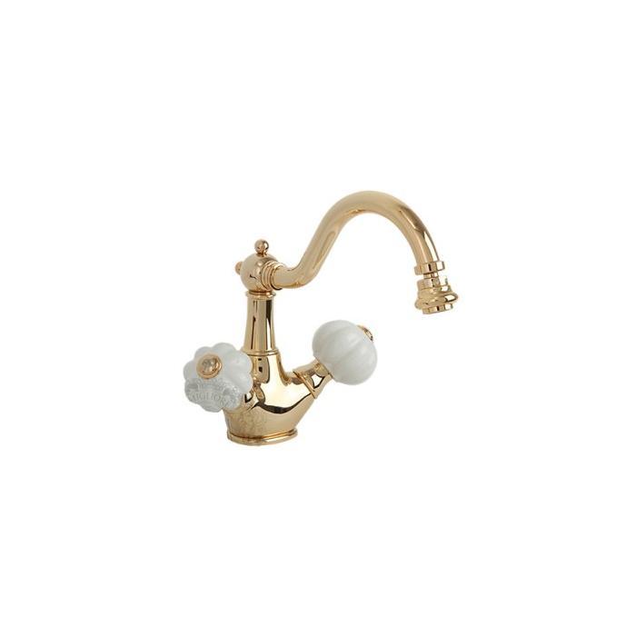 Фото сантехники Olivia Смеситель для биде c донным клапаном «click-clack»(без декора), цвет золото