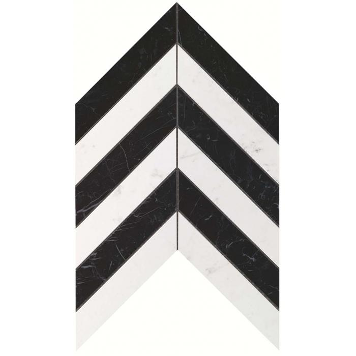 Текстура плитки Marvel Stone Chevron Cold Wall (17,5x3,4) 25x30,5