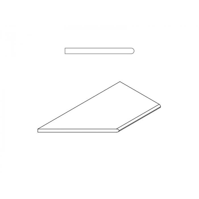 Текстура плитки Пур Бортик Закругленный Левый 30x60