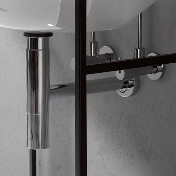 Фото сантехники Bette Дизайн-сифон, с угловыми вентилями, цвет хром