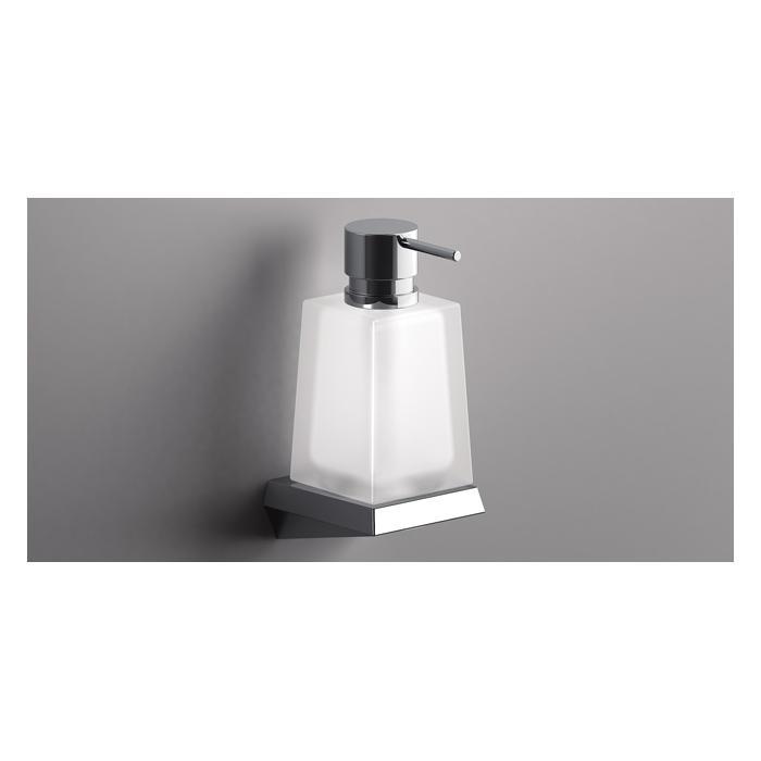 Фото сантехники S8 Дозатор для жидкого мыла, стекло/хром