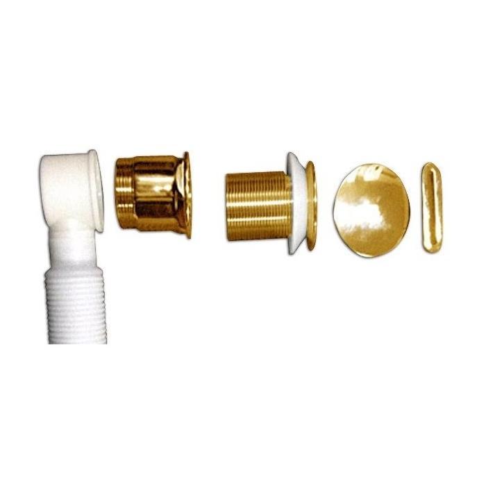 Фото сантехники Слив-перелив для ванн, цвет золото