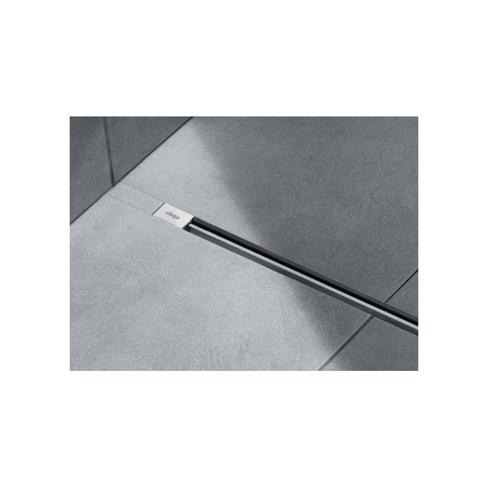 Фото сантехники Visign SR1 Дизайн-вставка с комплектующими для монтажа и боковыми накладками, матовый хром