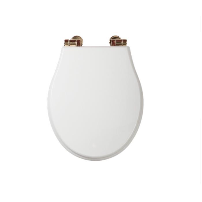Фото сантехники Impero Крышка для унитаза с системой Microlift, цвет белый/бронза