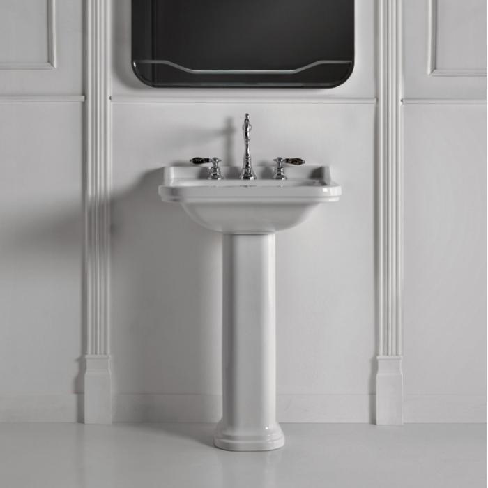 Фото сантехники Waldorf Пьедестал для раковин 60 и 80см, цвет белый - 2