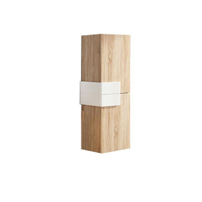 Фото сантехники Cronos Пенал подвесной 32 x 100 x 25,8 см, цвет светлый дуб/вставка-матовый белый