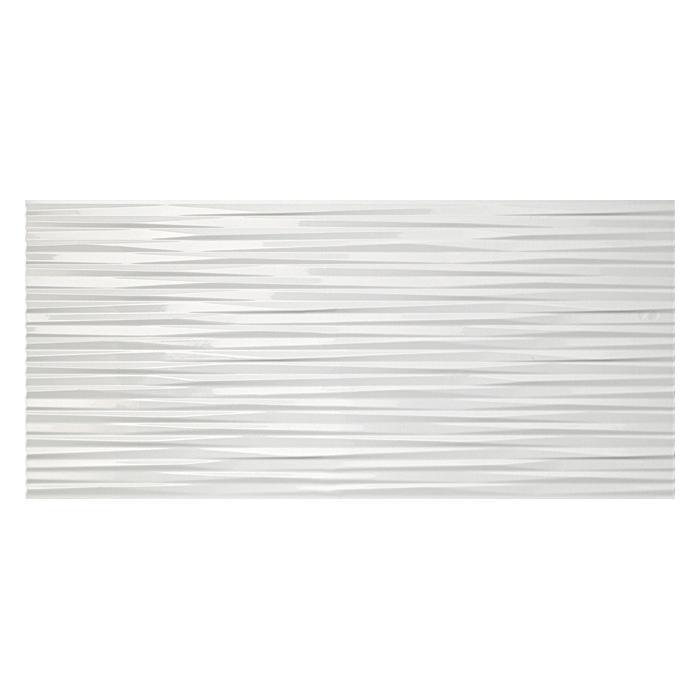 Текстура плитки 3D Ultra Blade White Glossy 50x110