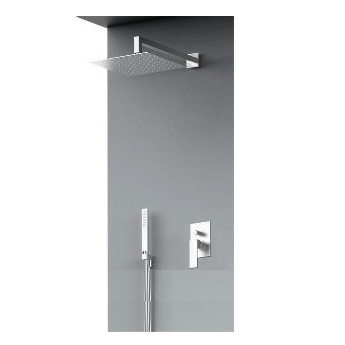 Фото сантехники Kala Комплект душевой системыверхний душ, ручной душ, термостат, кронштейн, шланг, держатель, хром