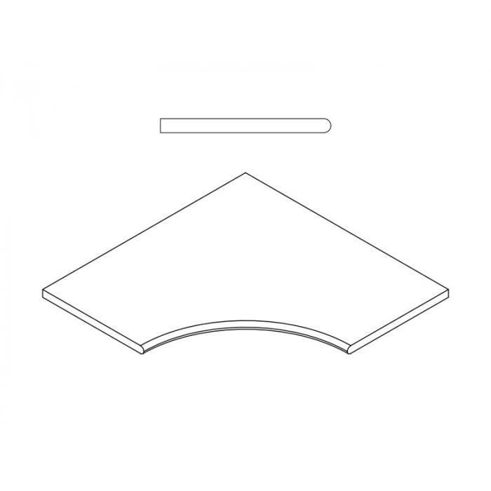 Текстура плитки Пур Бортик Закругленный 30x60