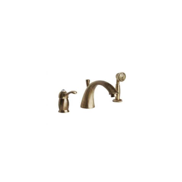 Фото сантехники Lem Swarovski Смеситель на борт ванны монокомандный на 3 отверстия, цвет бронза