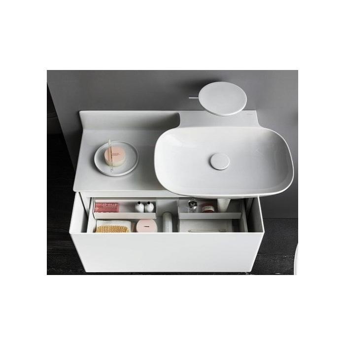 Фото сантехники LAUFEN (INO) Шкафчик под умывальник 81330.1/.2, 1 ящик, компактный сифон, цвет белый матовый