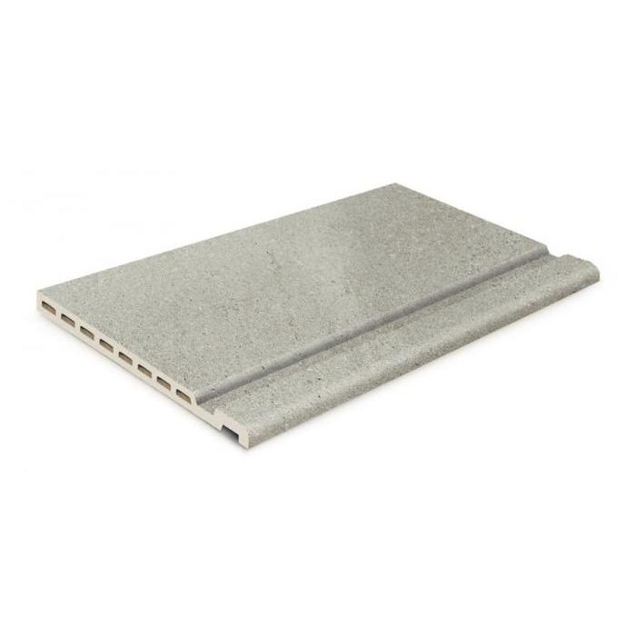 Текстура плитки Borde Maui Edge Stromboli Silver 33x50