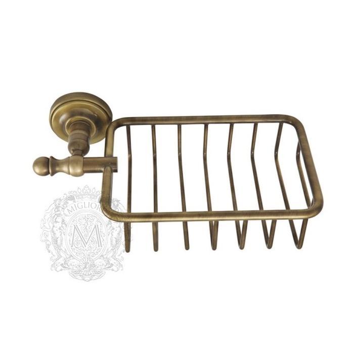 Фото сантехники Mirella Решетка-корзинка, цвет бронза