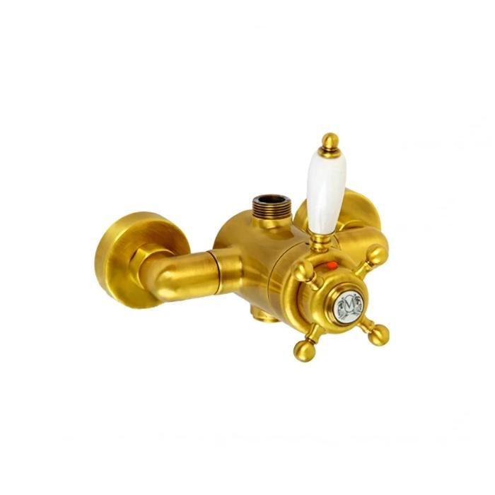 Фото сантехники King Смеситель для душа внешний  термостат, золото