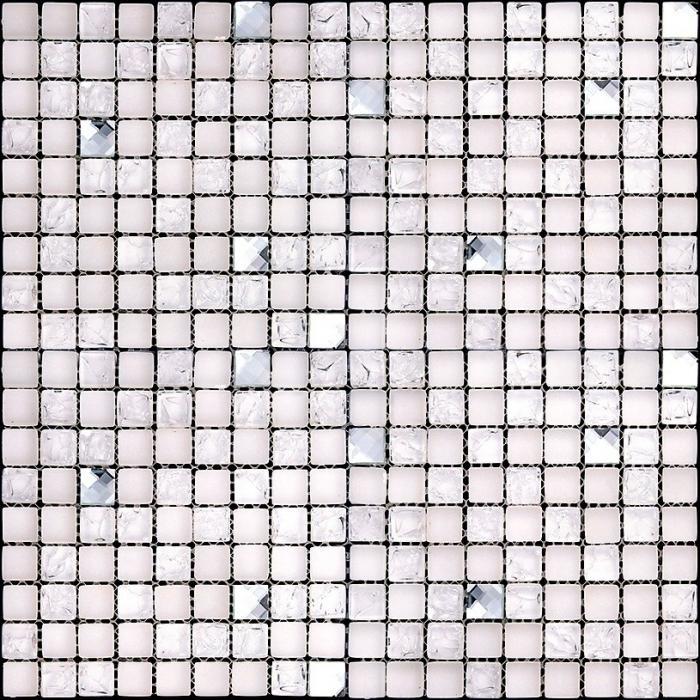 Изображение Ice Flowers Мозайка Стеклянная Глянцевая ICE-13 1,5х1,5