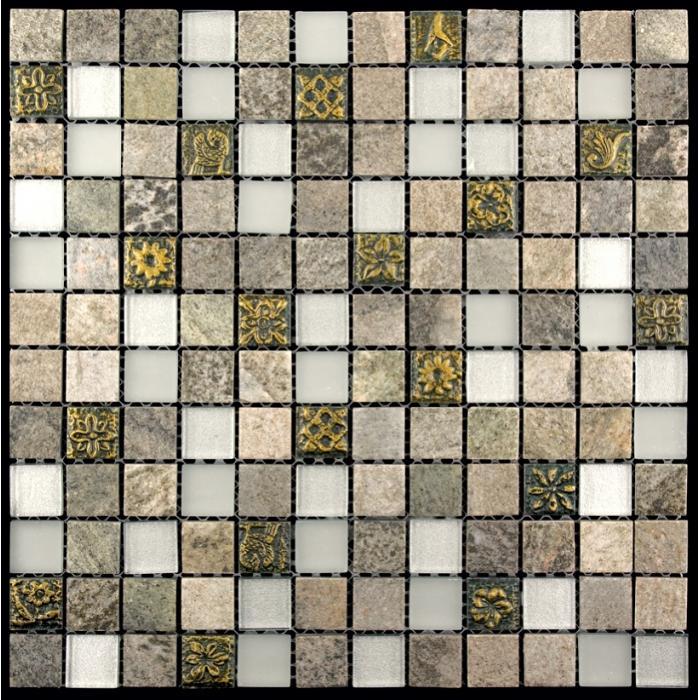 Изображение Inka Мозаика Стекло - Мрамор BDA-2316 (BDA-16) 2,3х2,3