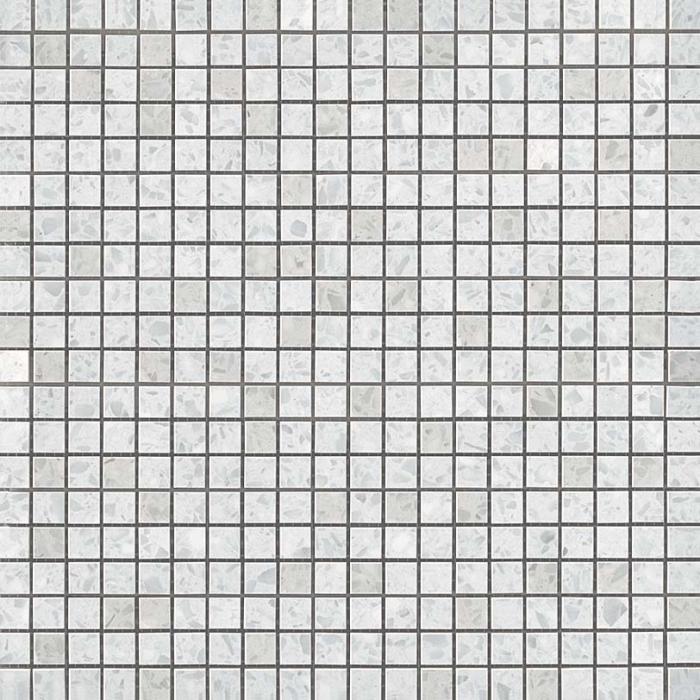 Текстура плитки Marvel Gems Terrazzo White Micromosaico (1.3x1.3) 30,5x30,5