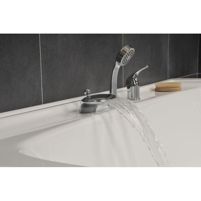 Фото сантехники Врезной смеситель на борт ванны на 3 отверстия, цвет хром