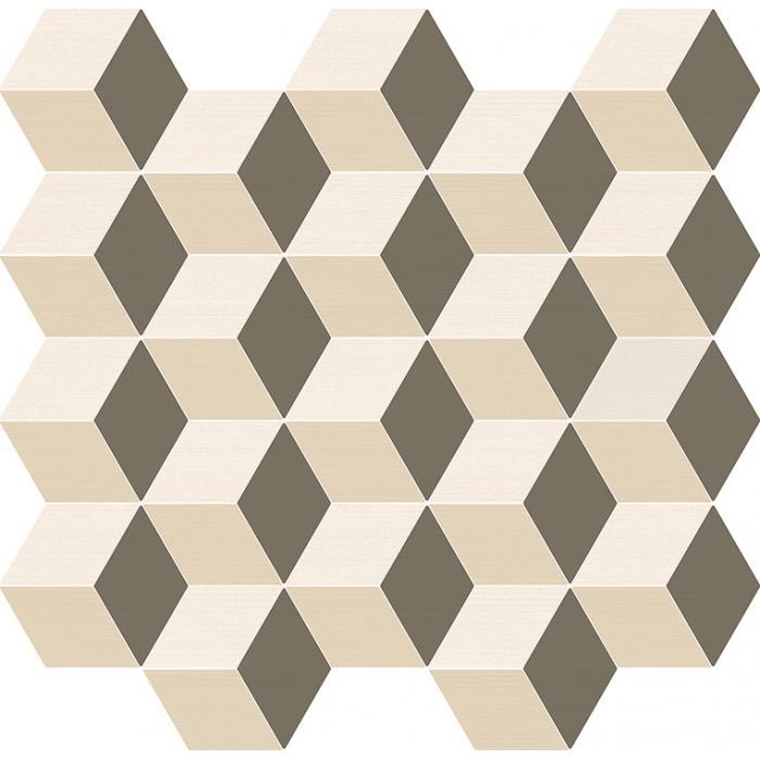 Текстура плитки Элeмент Мозаика Куб Ворм 30,5x33