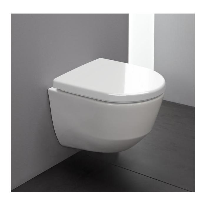 Фото сантехники Pro Унитаз подвесной 53х36см со скрытым ободком, глубокое смывание, цвет белый