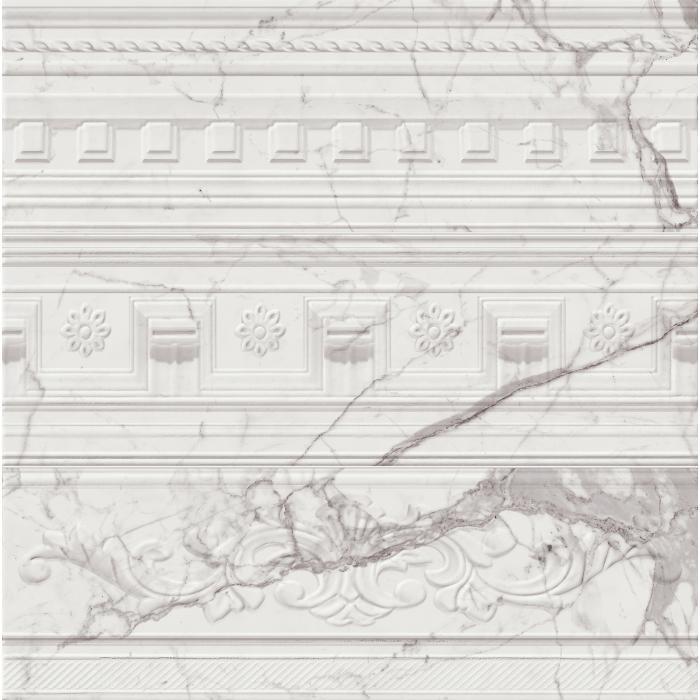 Текстура плитки Шарм Эво Статуарио Вставка Арти 25x75