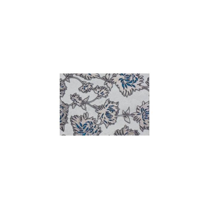 Текстура плитки Gris Flower Turkus Dec. 25x36