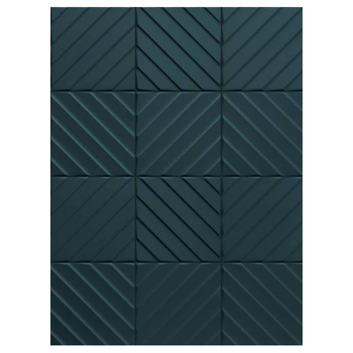 Текстура плитки 4D Diagonal Deep Blue 20x20