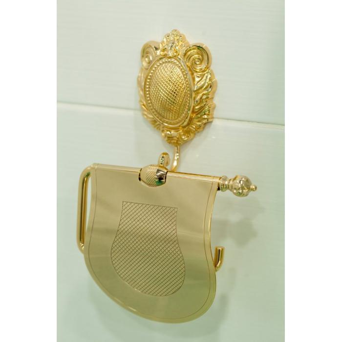 Фото сантехники Cleopatra Бумагодержатель закрытый, золото - 2