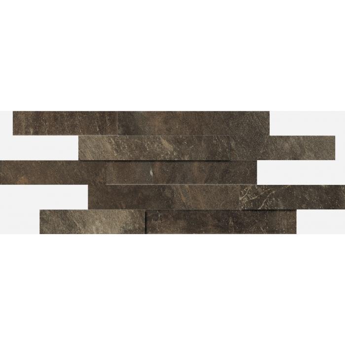Текстура плитки Дженезис Браун Брик 3Д Нат. 28x78 (0,164м2)