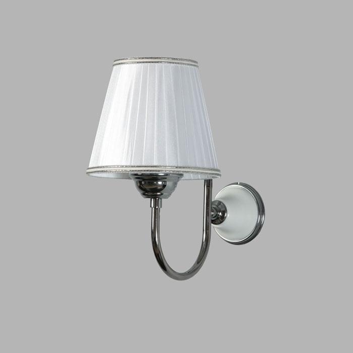 Фото сантехники Абажур для светильника тканевый с хромовым кантом, хром