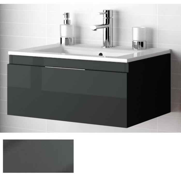 Фото сантехники Affordable Option Versus Тумба 80 см, цвет серый глянец, без раковины
