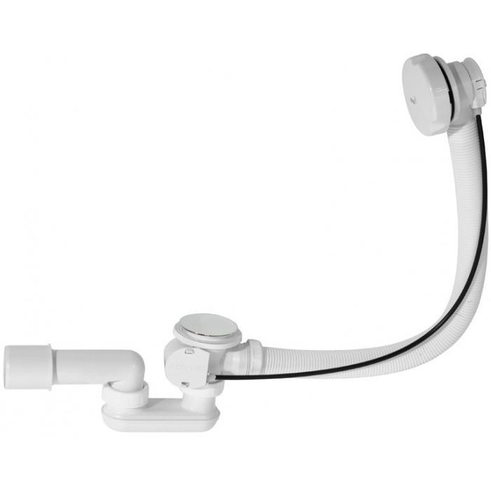 Фото сантехники Слив-перелив для ванн 80 мм автомат, цвет белый