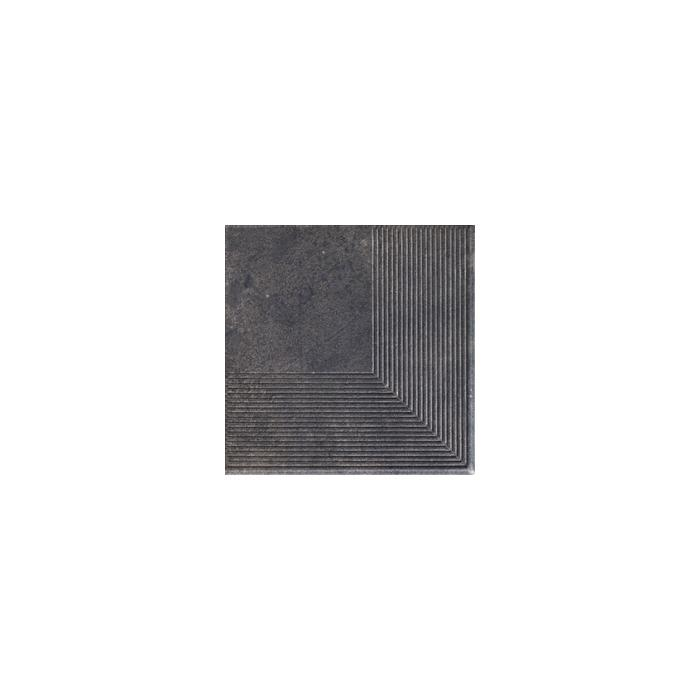 Текстура плитки Viano Antracite Stopnica Narozna 30x30