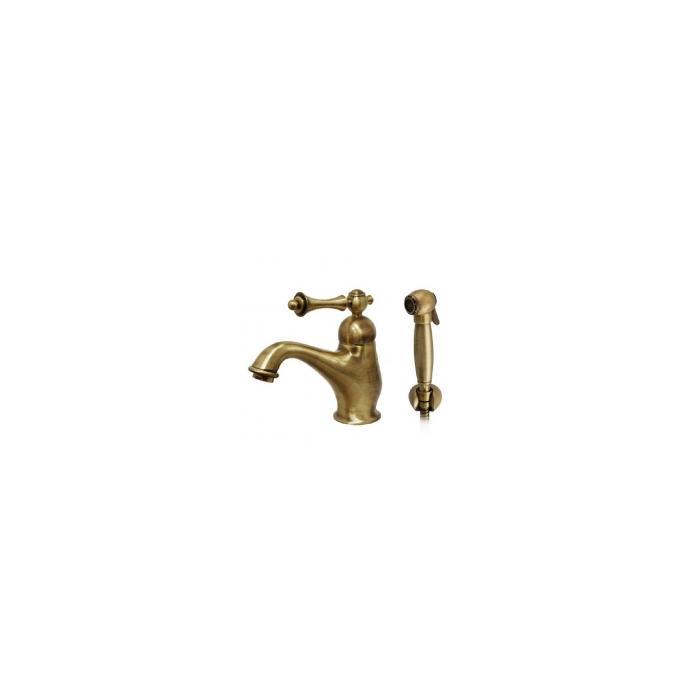 Фото сантехники Bomond Смеситель для раковины с гигиеническим душем, цвет бронза/ML.BMD-9714.BR
