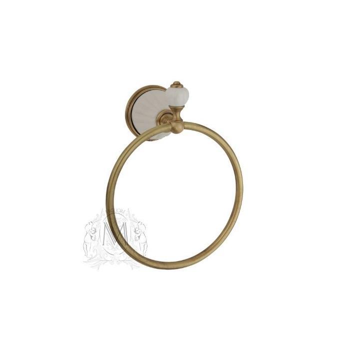Фото сантехники Olivia Полотенцедержатель-кольцо (с декором), бронза