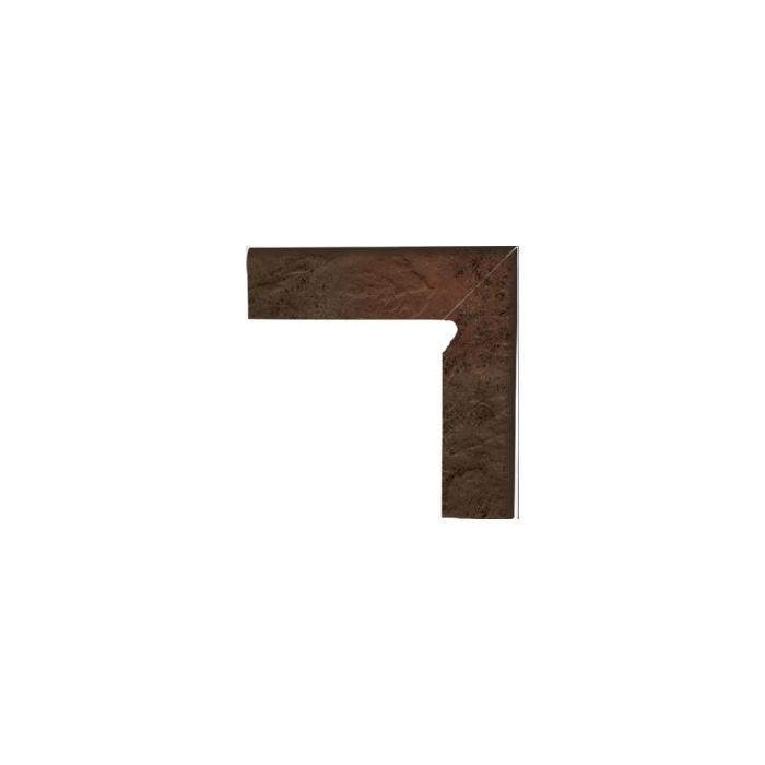 Текстура плитки Semir Brown Cokol Dwuelementowy prawy комлект 8.1x30