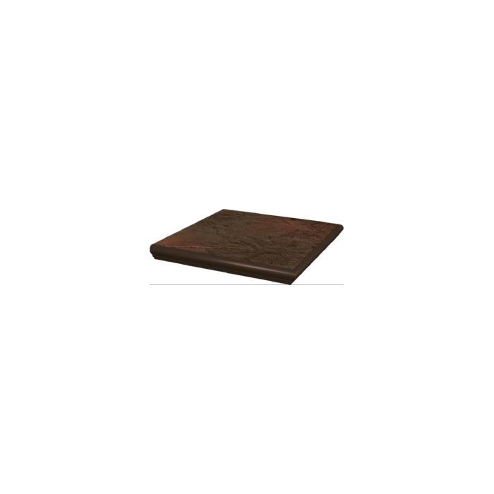 Текстура плитки Semir Brown Stopnica Narozna z kapinosem Duro 33x33