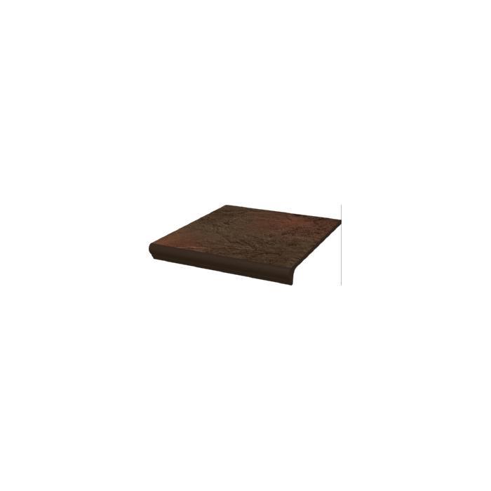 Текстура плитки Semir Brown Stopnica z kapinosem Duro 30x33