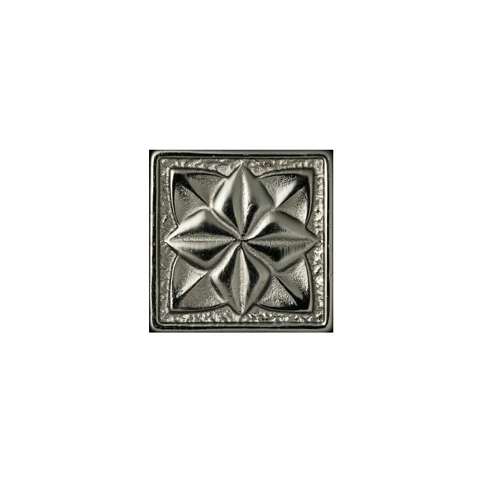Текстура плитки Лилия Серебро 5x5