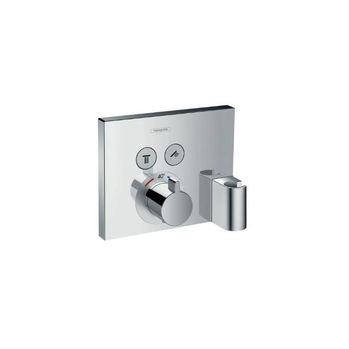 Фото сантехники Croma Select Термостат на 2 потребителя, включая шланговое подсоединение и держатель для душа, хром - 3