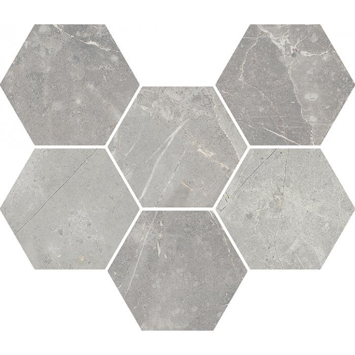 Текстура плитки Шарм Эво Империале Мозаика Гексагон 25x29 (0,050м2)