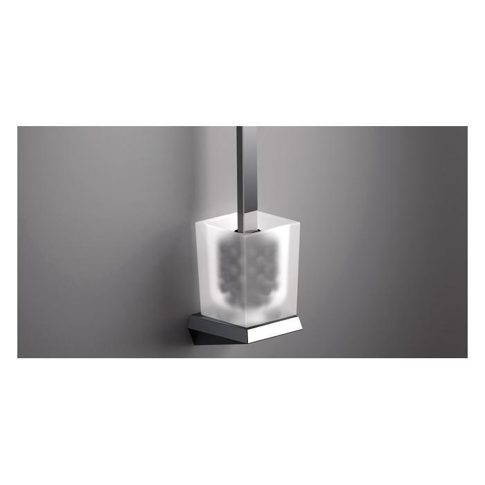 Фото сантехники S8 Ерш туалетный настенный, стекло/хром