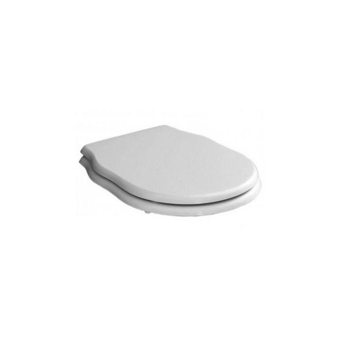 Фото сантехники HERMITAGE Сиденье для унитаза цвет белый, с микролифтом шарниры хром