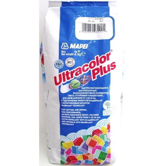 Строительная химия Ultracolor Plus 103  2 кг цвет белая луна затирка для швов - 2
