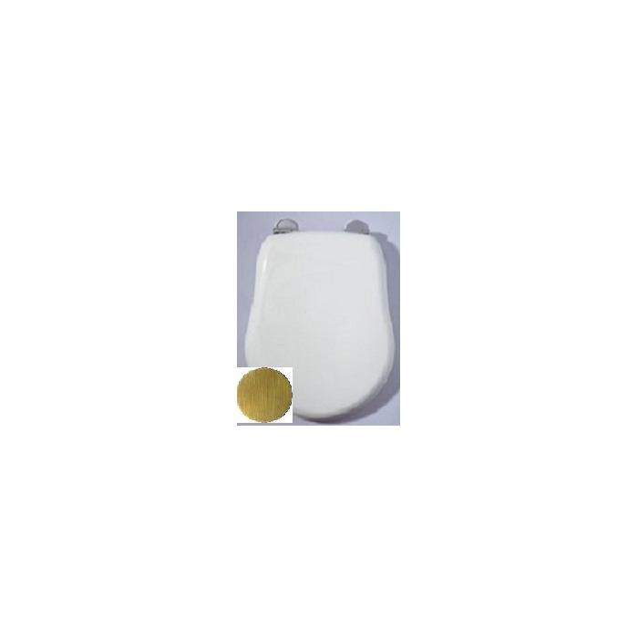 Фото сантехники Bella Крышка для унитаза с системой Microlift, цвет белый лак,петли бронза