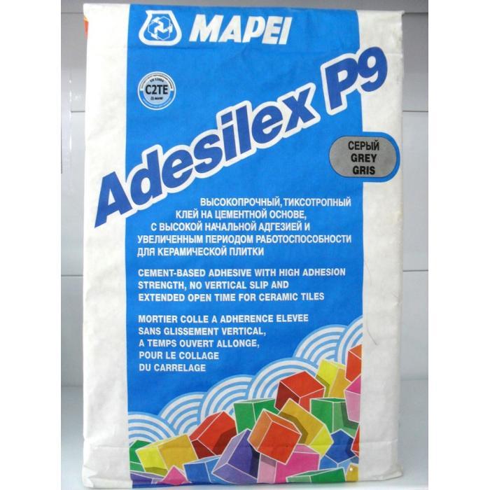Строительная химия Adesilex P 9 Grey 25 kg клей для плитки и керамогранита