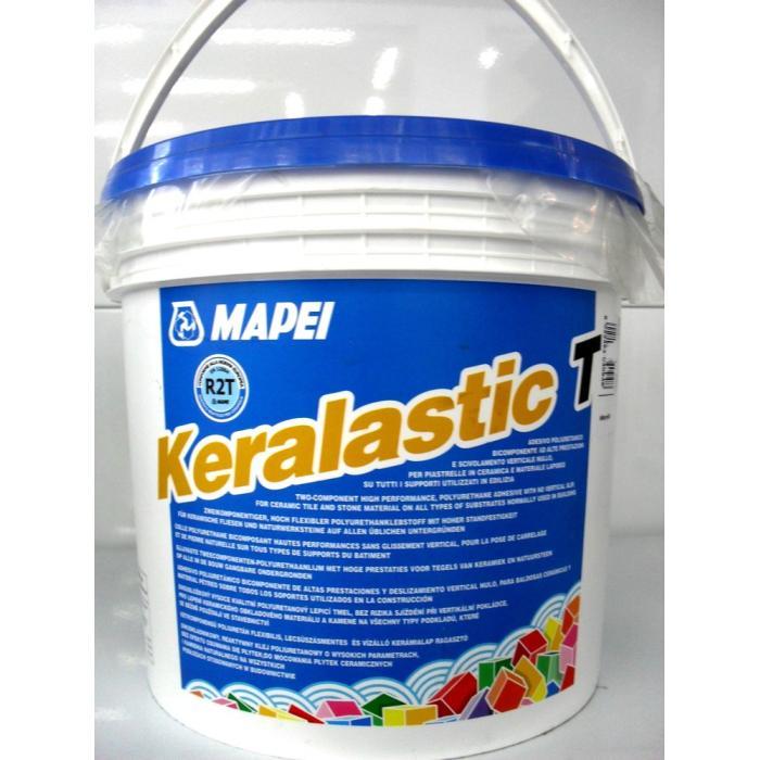 Строительная химия Keralastic-T White  5 kg полиуретановый клей для плитки и мозаики 2 комп.